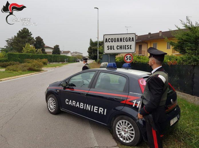 Indagini dei carabinieri di Acquanegra