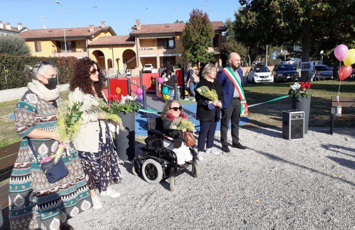 In piazza Anna Magnani a Pegognaga inagurato il Parco Giochi Inclusivo